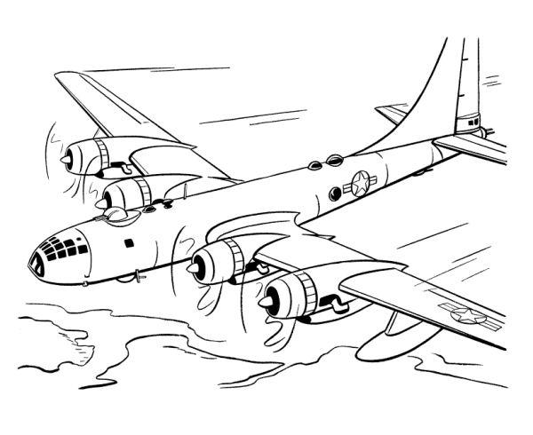 l'avion dessin à colorier en ligne
