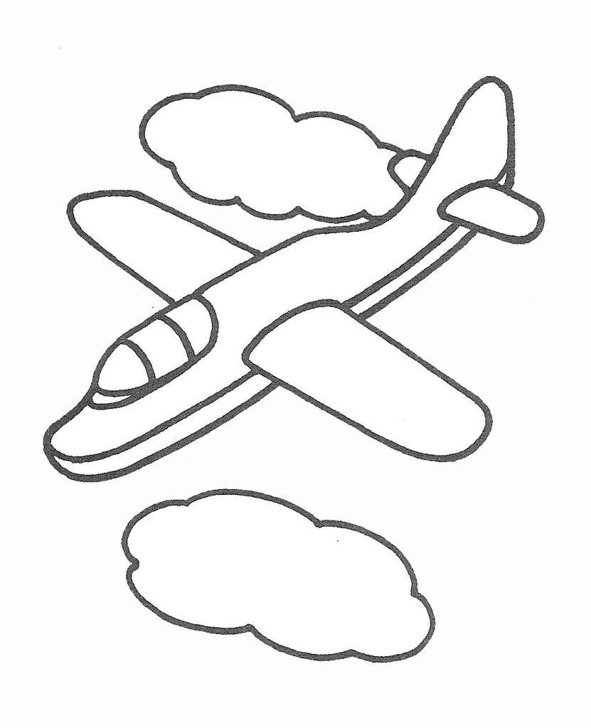 coloriage à dessiner avion de chasse