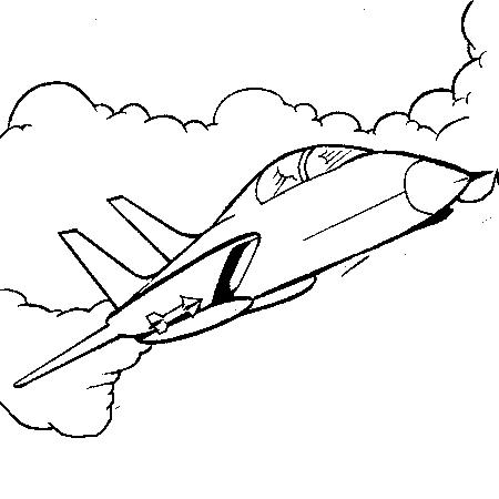 coloriage à dessiner avion canadair