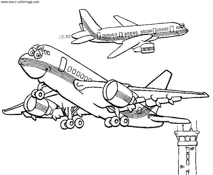 dessin voiture et avion