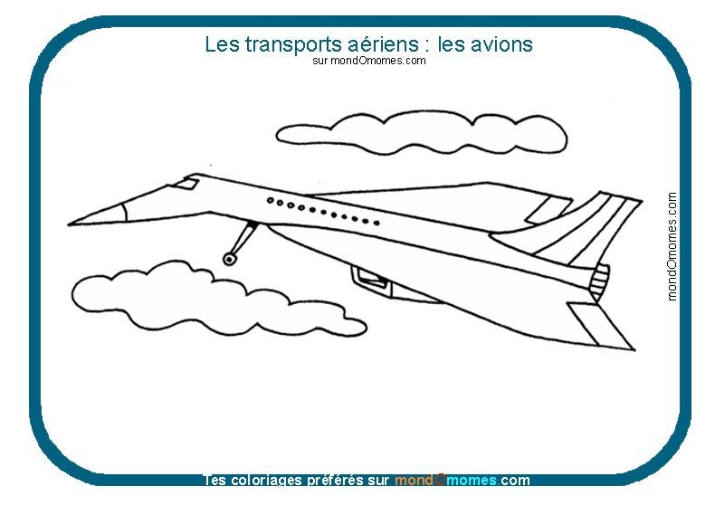 coloriage à dessiner d'avion gratuit