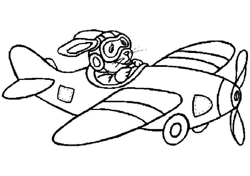 dessin à colorier avion à imprimer gratuit