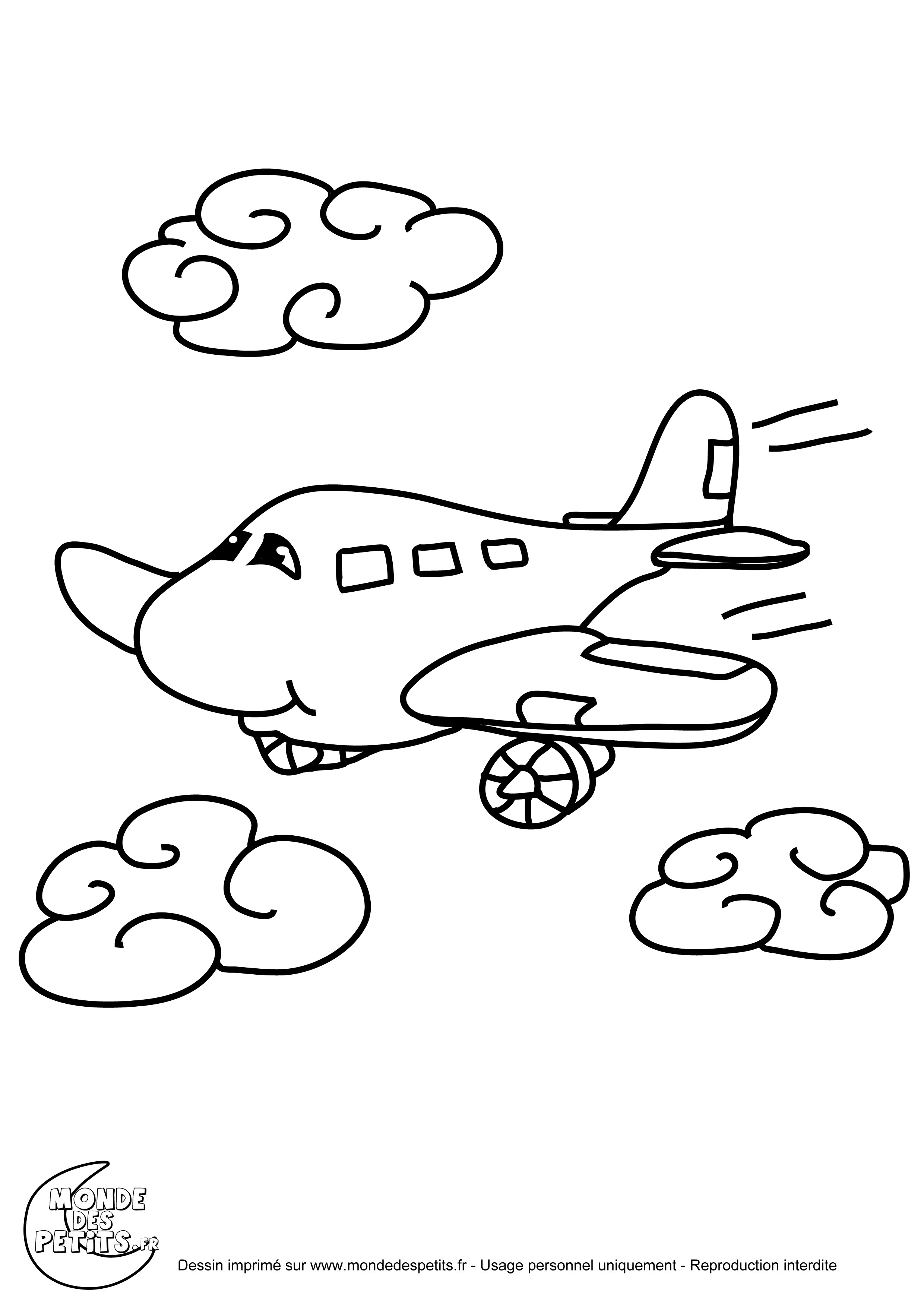 124 Dessins De Coloriage Avion à Imprimer