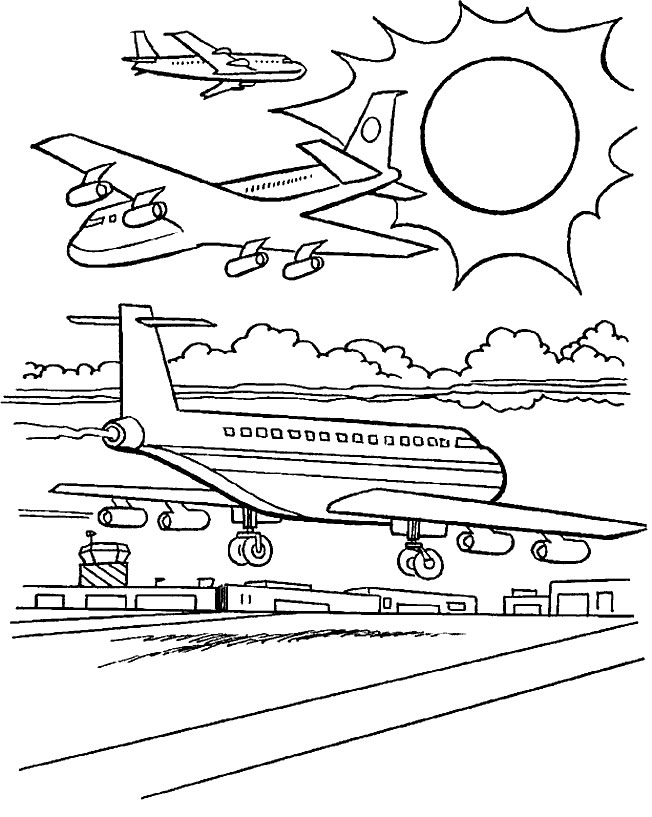 dessin avion à reaction