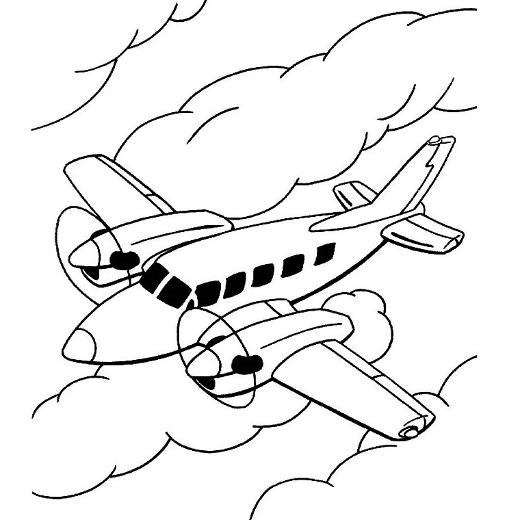 coloriage avion furtif