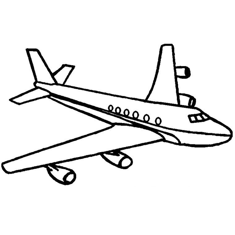 avion pour coloriage