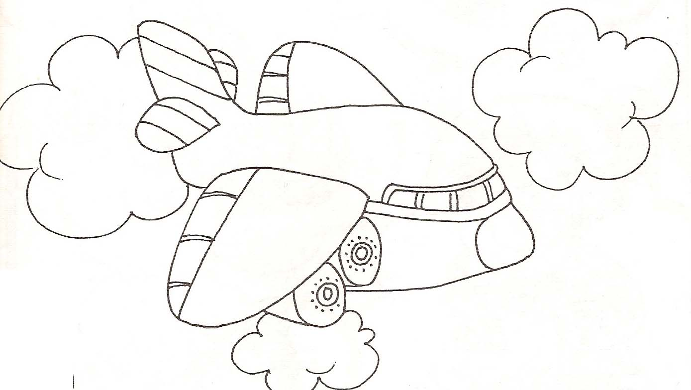 Coloriage avion et parachute - Dessins avions ...
