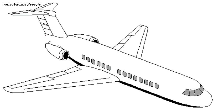 dessin à colorier avion de chasse en ligne