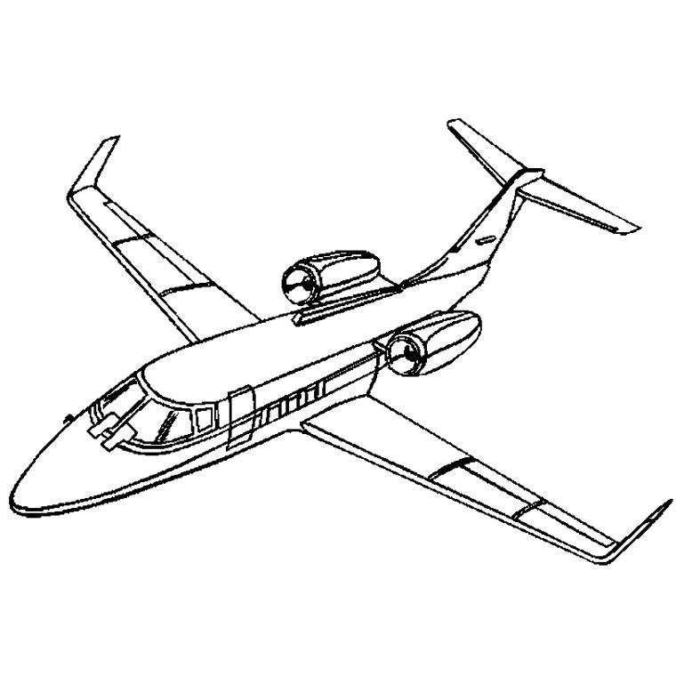 coloriage à dessiner d'avion a380