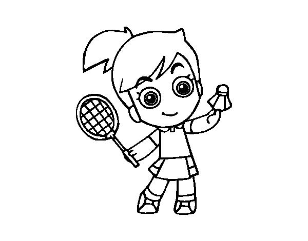 Coloriage dessiner de raquette de badminton - Dessin raquette ...