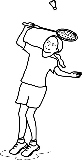 coloriage � dessiner badminton
