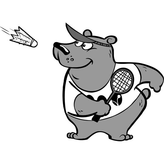 dessin badminton imprimer