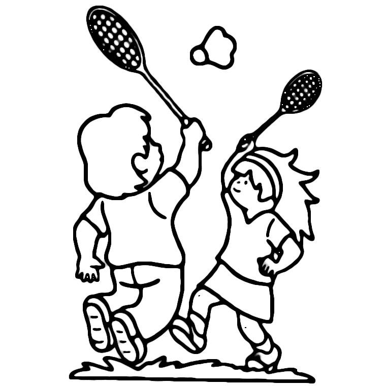 dessin joueur de badminton