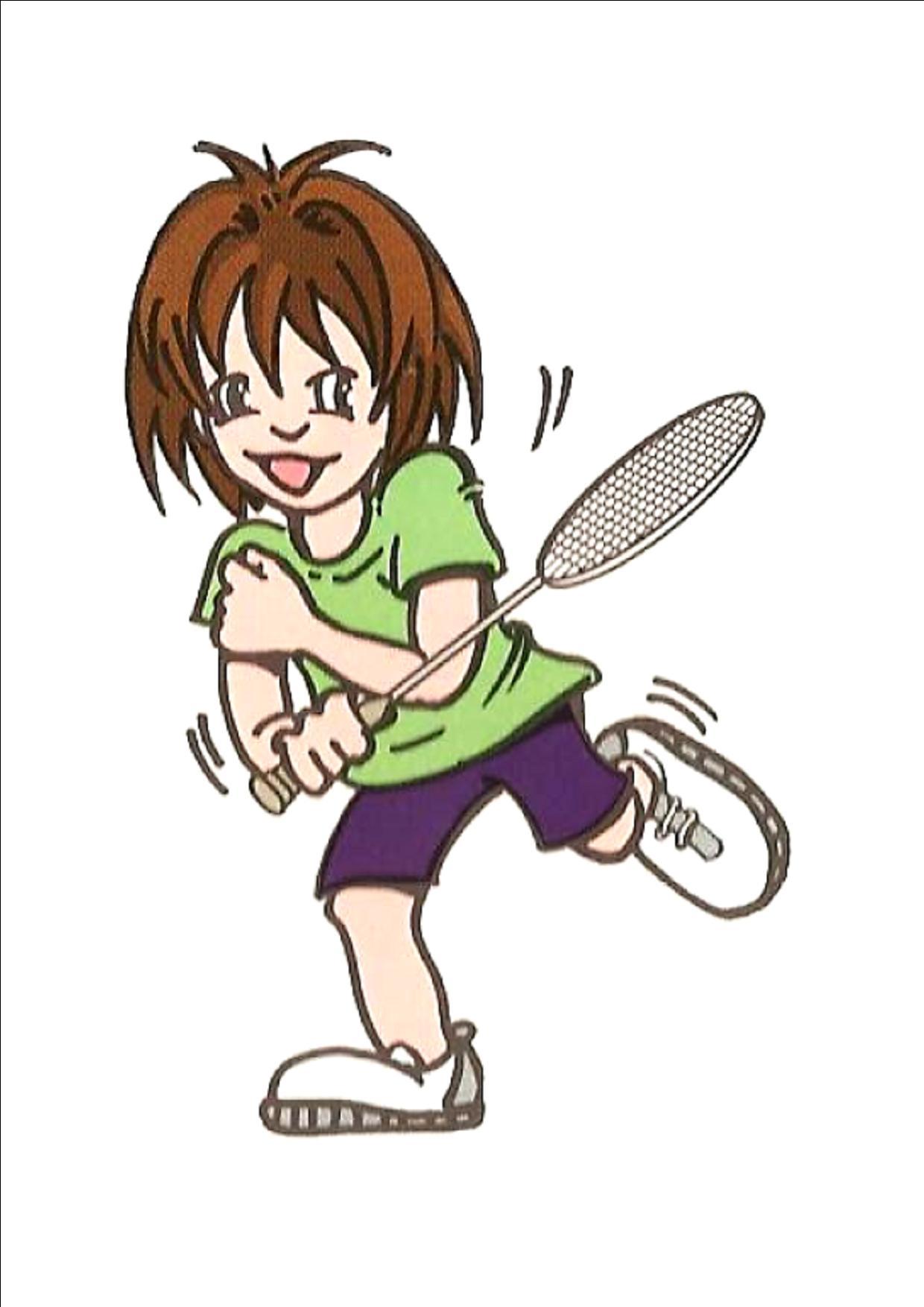 coloriage de raquette de badminton