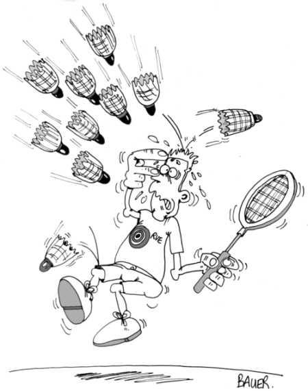 coloriage à dessiner de badminton