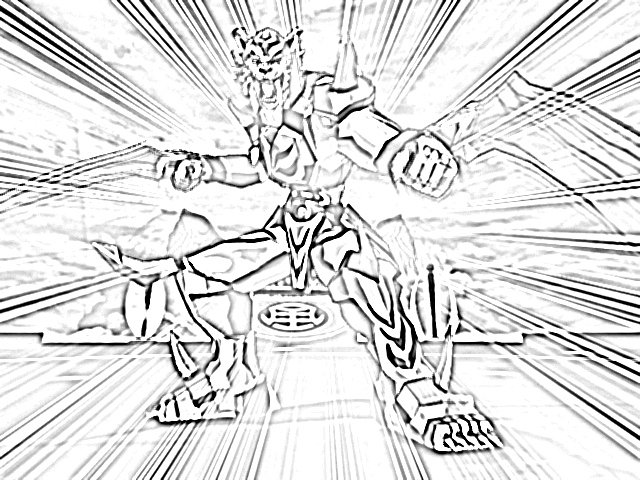 coloriage � dessiner bakugan dragonoid colossus