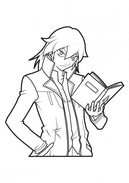 coloriage à dessiner bakugan dragonoid a imprimer