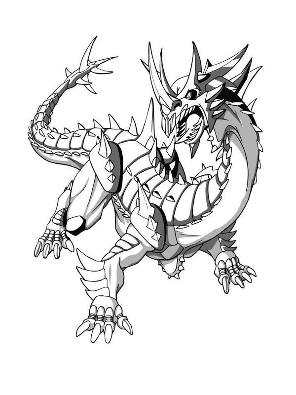dessin à colorier bakugan drago à imprimer