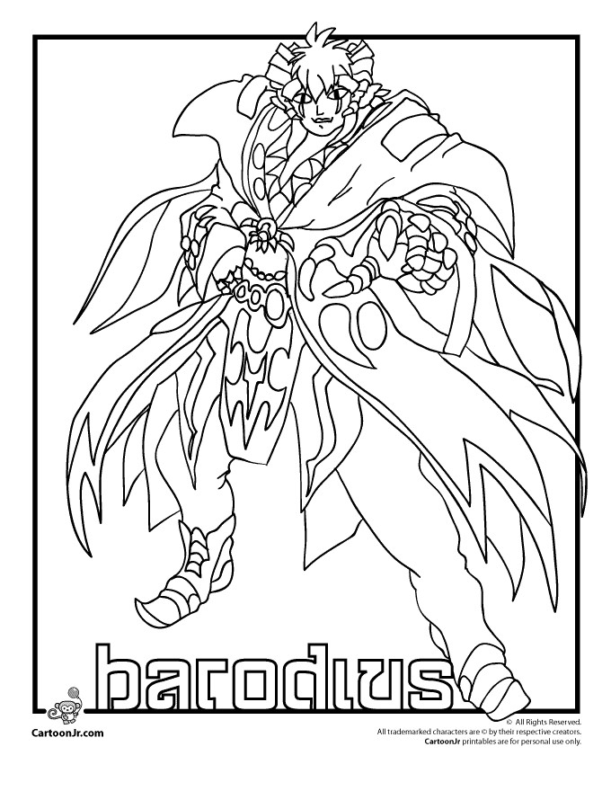 coloriage bakugan dragonoid colossus