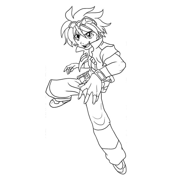 coloriage à dessiner bakugan