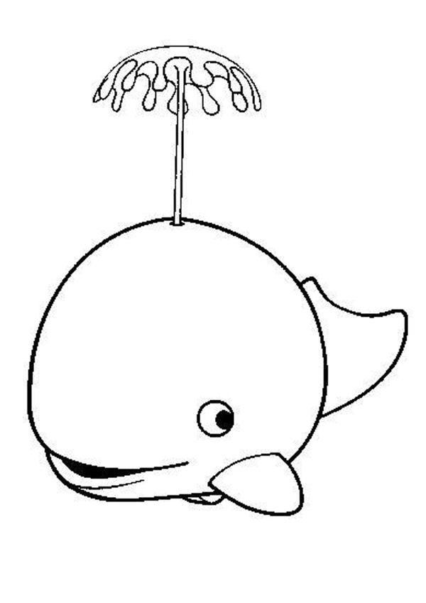 coloriage à dessiner baleine imprimer