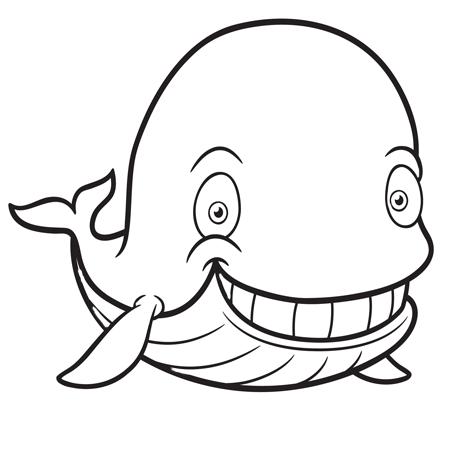dessin à colorier baleine à imprimer