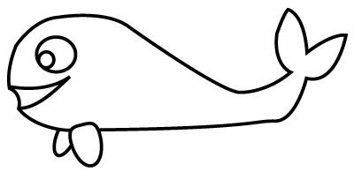 image à colorier baleine