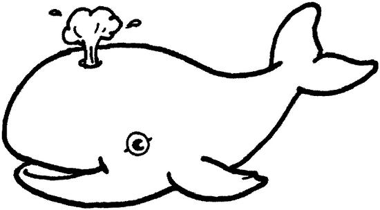 dessin à colorier de baleine bleue a imprimer