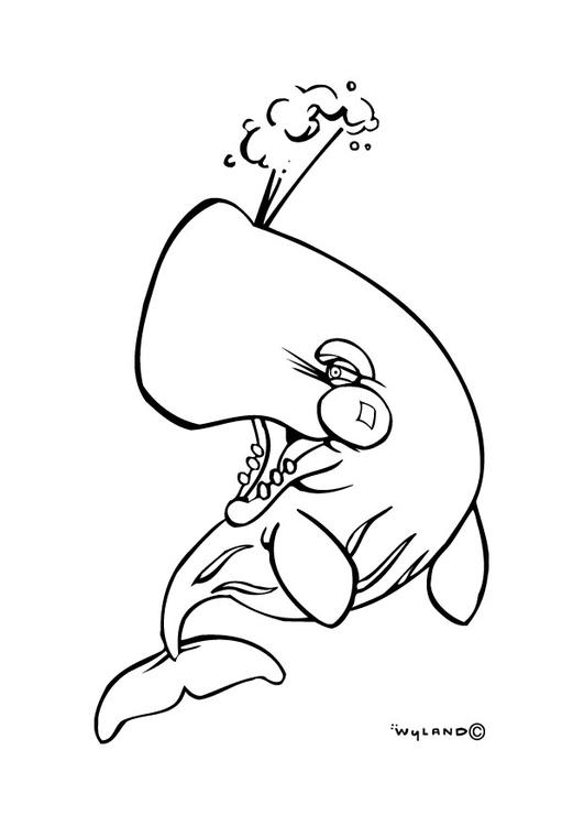 coloriage à dessiner skylanders baleine
