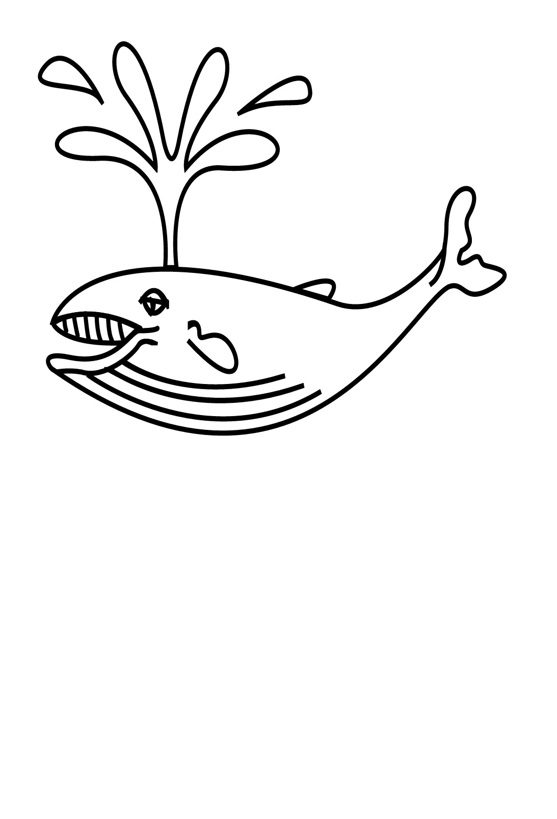 dessin à colorier d'une baleine