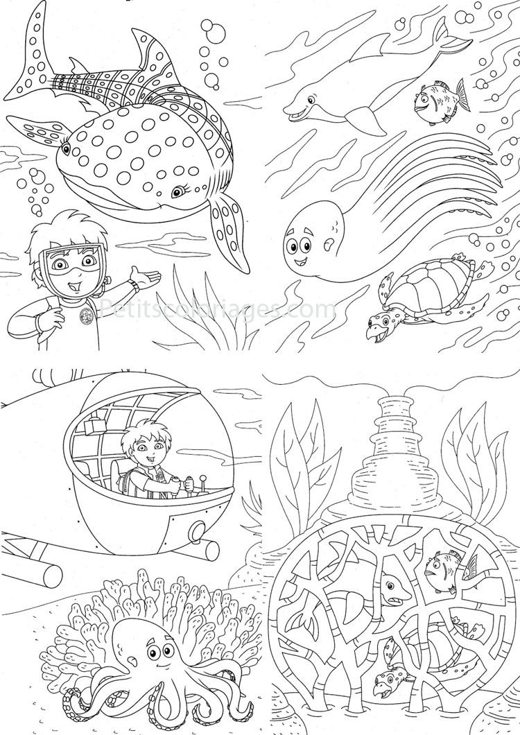 coloriage à dessiner de baleine a bosse