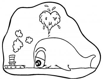 coloriage à dessiner de baleine gratuit