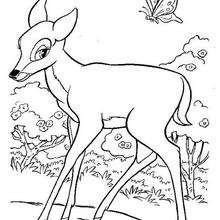 dessin à colorier à imprimer bambi