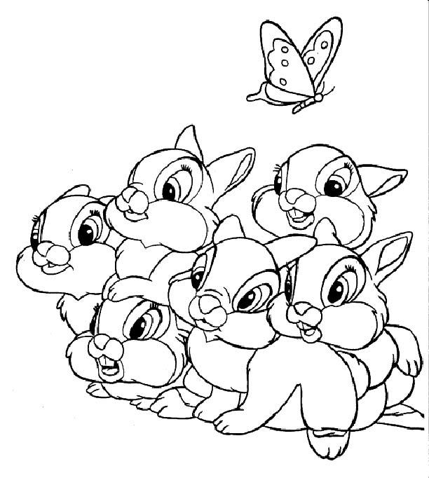 Coloriage Bambi Imprimer