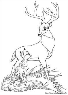 coloriage à dessiner à imprimer bambi
