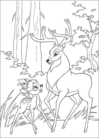 coloriage à dessiner bambi imprimer