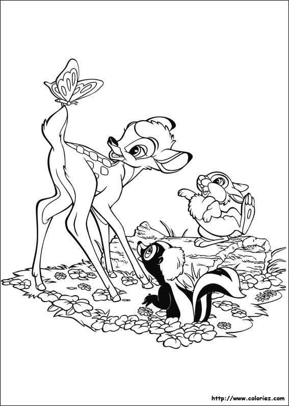 dessin bambi disney