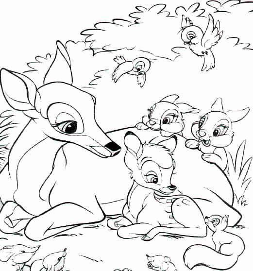 coloriage bambi et panpan