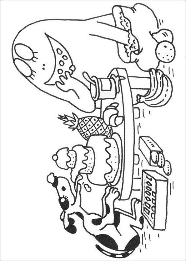 dessin barbapapa à imprimer