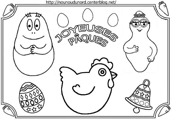 coloriage � dessiner barbidur barbapapa
