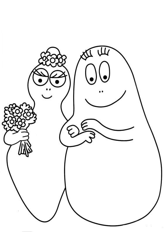 www.coloriage à dessiner de barbapapa.fr