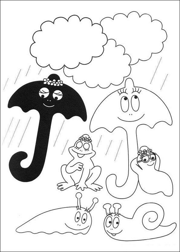 dessin à colorier barbapapa online