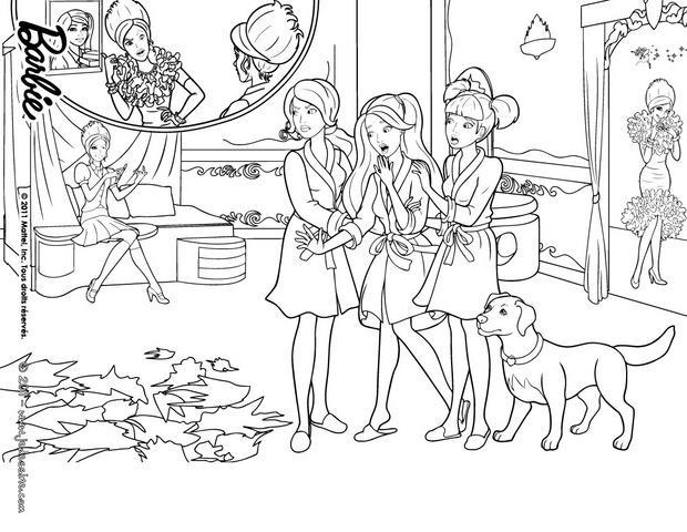 19 dessins de coloriage barbie apprentie princesse imprimer - Coloriage barbie apprentie princesse ...