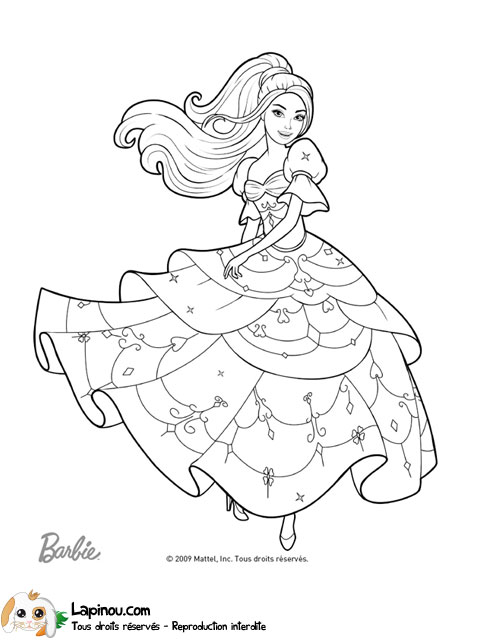20 dessins de coloriage barbie danseuse toile imprimer - Coloriage barbie danseuse ...