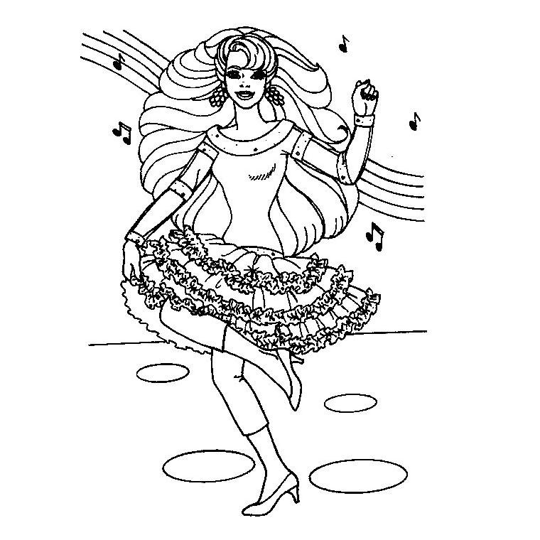 20 dessins de coloriage barbie danseuse toile imprimer - Danseuse flamenco dessin ...