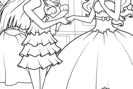 19 dessins de coloriage barbie popstar imprimer - Dessin de barbie facile ...
