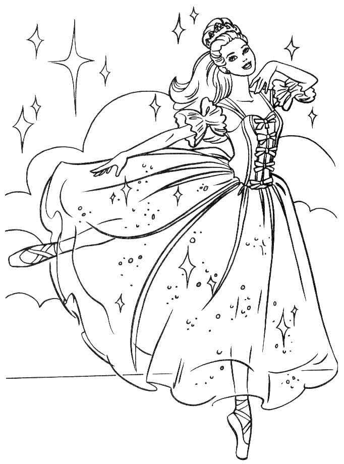 17 dessins de coloriage barbie princesse imprimer imprimer - Coloriage barbie princesse a imprimer ...