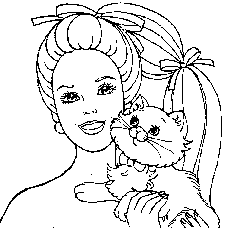 coloriage barbie bébé