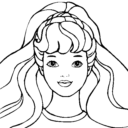 coloriage barbie je dessine
