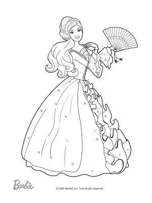 coloriage barbie de la mode a imprimer